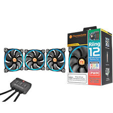 ThermalTake Riing12 Led RGB Fan 256 Colour 120mm, includes 3 Fans and Fan Switch