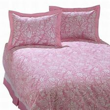 Swell Riviera Tropical Pink 3 Pc Duvet Cover Set Twin Bed with Sham & Bedskirt