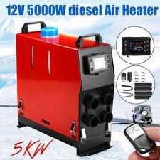 5KW 12V Portable Air Diesel Heater Tank LCD Silencer Caravan Motorhome Remote AU