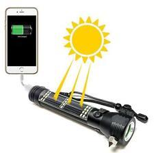 6-n-1 Solar LED  Emergency Flashlight USB Charger Knife Hammer Compass Magnet