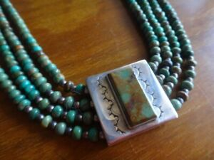 Aguilar Sterling and Turquoise Necklace