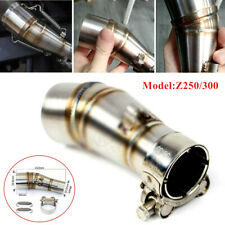 Motorcycle Exhaust Middle Pipe Link Muffler Mid Section Adapter Z250/300 w/Parts