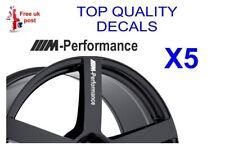5 X BMW M-PERFORMANCE ALLOY WHEEL Decals  sticker