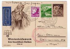 1938 Graf Zeppelin Flight Sudetenland on Postal Card