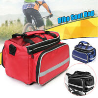 Waterproof Bicycle Bike Rear Rack Bag Removable Carry Carrier Saddle Bag  D*//