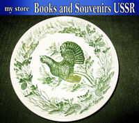Old porcelain wall plate of the USSR 1950-1970 years,  diameter 260 millimeters