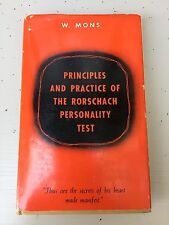 Principles and practice of the rorschach personality test  w. mons excellent