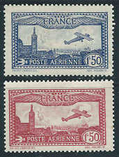 France - 1930 - Avion survollant Marseille - PA 5/6 - Neufs*  / MLH