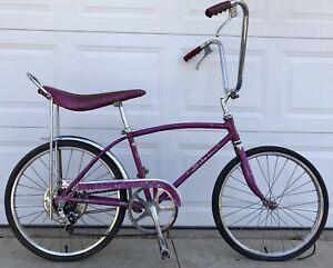 1966 SCHWINN STINGRAY FASTBACK VIOLET BICYCLE, SEPT 66, OLD 5 SPEED MUSCLE BIKE