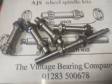 AJS MATCHLESS Hollow Front and Rear wheel spindles and bearings  11905 11908
