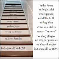 New Design Stair Riser Stickers In This House Rules We Love Cut Vinyl Decal