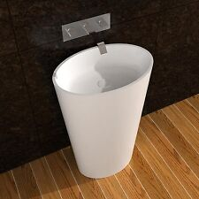Free Standing Solid Surface Stone Resin Glossy Sink 24 x 16 inch - DW-188W