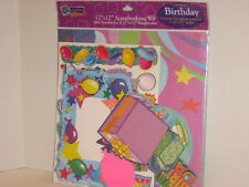 """Remember When Birthday Memory Scrapbook Kit 12"""" x 12"""" Create 7 Pages NIP"""