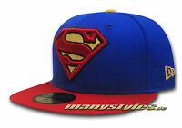 SUPERMAN NEW ERA DC COMIC ART BASIC TEAM CAP MARVEL SUPERHEROES COMIC CAPS