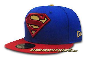 SUPERMAN NEW ERA DC COMIC ART BASIC TEAM CAP MARVEL SUPERHEROES COMIC 7 o. 7 1/8