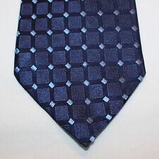 """NEW 60"""" Geoffrey Beene Silk Neck Tie Dark Blue Navy with Blue Diamonds 31"""