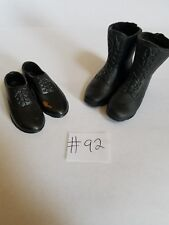 "1/6 SCALE LOT OF 2 BOOTS FOR 12"" FIGURES DRAGON GIJOE #92 USMC 21 BARBIE SS MP"