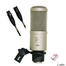 Heil PR 40 Microphone W/ Free Mogami Gold Studio 15 foot microphone cable