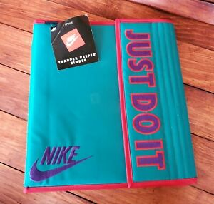 RARE NWT Vintage 90'S Mead Nike Binder! Trapper Keeper Style! Nike Just Do it!
