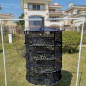 4 Layer Herb Drying Rack Net Herb Dryer Mesh Hanging Dryer Racks with Zipper