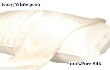 100%SILK-PILLOW CASE>Sensual,Thick+Luxurious 22.5M*One-IVORY forHair&SkinCare*BR