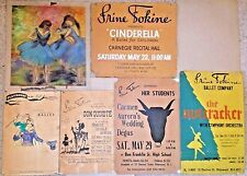 COLLECTION OF 5 VINTAGE IRINE FOKINE BALLET POSTERS AND PASTEL SKETCH~BALLERINAS