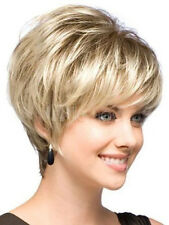 Natural Light Blonde Straight Short Hair Wigs Short Women's Fashion Wig