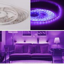 Wasserfest 5m LED Streifen Set Lila 300 LEDs Lichtband mit 12V Netzteil 3528 SMD