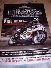 Phil Read signed Yamaha Classic tour show poster, 8 time World Champion
