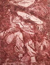 Figures portrait expressionist vintage print