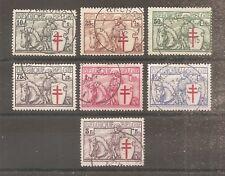 TIMBRE BELGIQUE BELGIUM 1934 N°394/400 OBLITERE USED COTE 165 EUROS