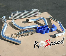 HONDA PRELUDE 92-01 H22 H23 BOLT ON TURBO INTERCOOLER+PIPING KIT BAR&PLATE FMIC