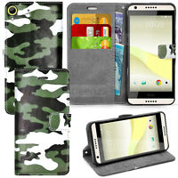 For HTC Desire 650 626 - Wallet Leather Case Flip Cover Book +  Screen Protector