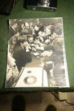"The Beatles Meeting Fans B & W Dezo Hoffman Stamped Photo Uk 8"" X 10"""