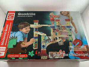 Hape Quadrilla Medieval Quest Wood Building Marble Run Race Set Missing 1 Piece
