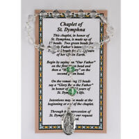 St. Dymphna Chaplet with a Laminated Prayer Card plus Two Free Holy Cards