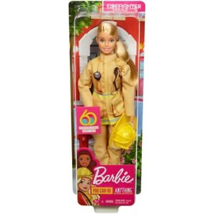 Barbie 60th Anniversary Career Doll - I Can Be A Firefighter