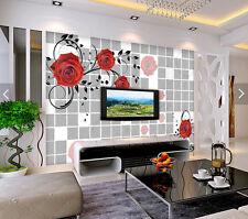 3D Romantic Red Roses 8533 Wall Paper Wall Print Decal Wall AJ WALLPAPER CA