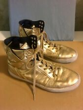 SUPRA Skytop Mens Skate Shoes Sneakers Size 12 High Top Modelo Gold 08003-718