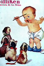 Billiken TWELVETREES Art Cover BABY CONDUCTOR Singing Puppy Dogs 1930 Matted