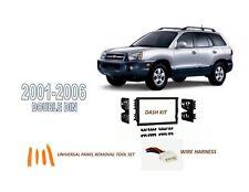 Fits 2001-2006 HYUNDAI SANTA FE CAR STEREO DOUBLE DIN INSTALL KIT, WIRE HARNESS