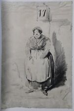 Benjamin ROUBAUD (1811-1847) Juive d'Alger Daumier Hersent Algerie Grandville