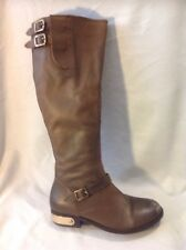 RAVEL Brown Knee High Leather Boots Size 3