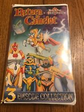 KING ARTHUR & THE KNIGHTS OF JUSTICE: RETURN TO CAMELOT RARE VHS CARTOON HEROES!