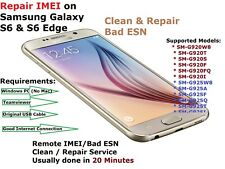 REMOTE FAST REPAIR | IMEI | BAD | ESN CLEANING / SAMSUNG GALAXY S6 & S6 EDGE & +