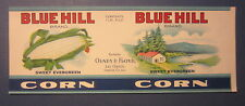 Old Vintage - Blue Hill CORN - Can LABEL - Olney & Floyd - Lee Center N.Y.