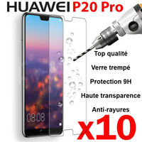 PROTECTION HUAWEI P20 PRO VERRE TREMPÉ FILM TRANSPARENT VITRE GLASS SCREEN LOT