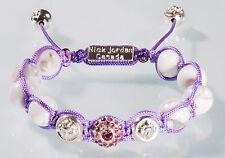 Uhren & Schmuck Glasperlen Makrame Armband Pink Rose Rosé Kristall Blau Verstellbar Eckig Perlen