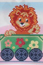 Löwe Kinder Motiv Stickpackung Stickbild Stickset Perlen Bead embroidery kit 283