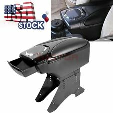 US Black Front Leather Center Console Armrest Storage Box For Universal Car 7M